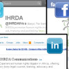 IHRDA social media accounts
