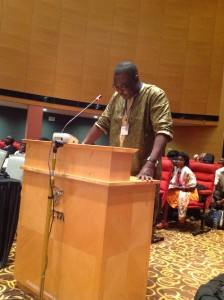 Mr Sowe during 54th Session