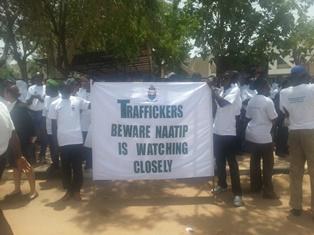 Warning to human traffickers