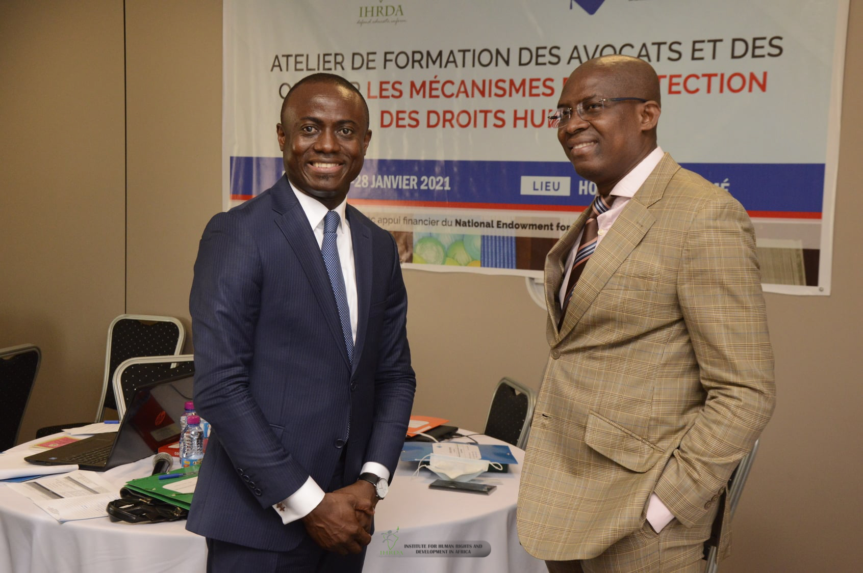 IHRDA and Centre de documentation et de formation sur les droits de l'homme (CDFDH) are organising a human rights strategic litigation training and case-identification workshop with about 25 lawyers and CSOs in Lome, Togo, 26-28 Jan 2021. Activity funded by NED.