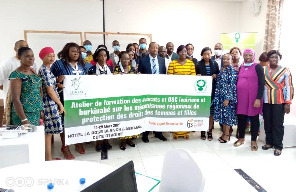 Le contentieux stratégique sur les droits des femmes : IHRDA, AFJCI organisent un atelier de formation pour les défenseurs des droits des femmes du Burkina Faso et de la Côte d'Ivoire