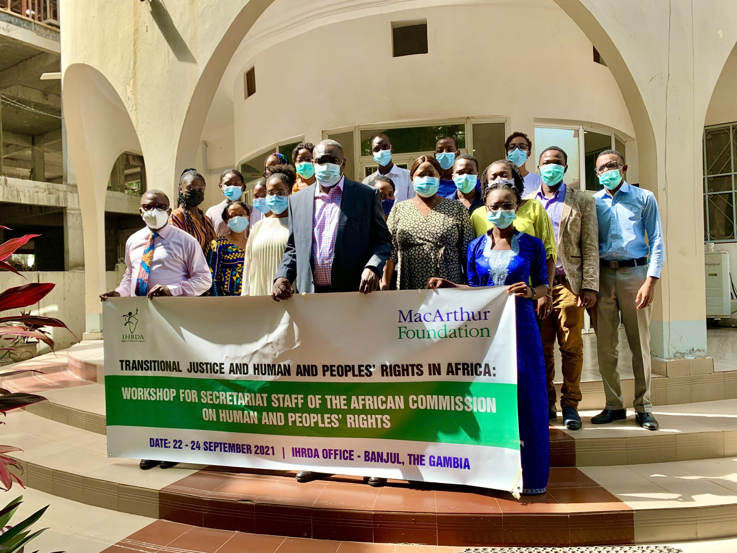 IHRDA organizes transitional justice workshop for ACHPR Secretariat staff